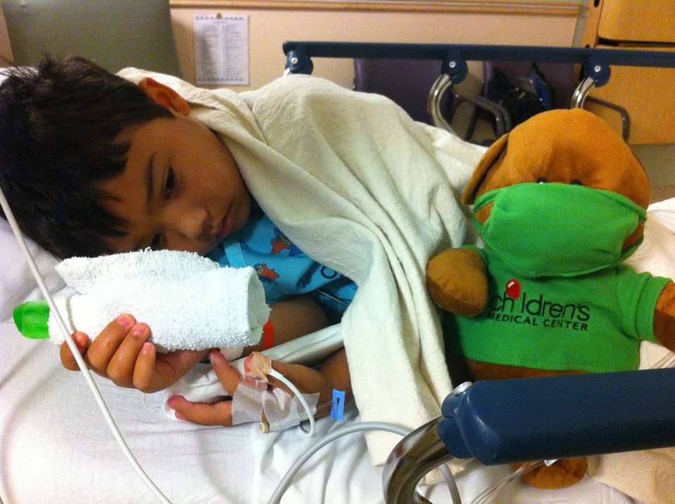 Jude Cobler during one of his hospital stays. Photo/Courtesy Cobler family