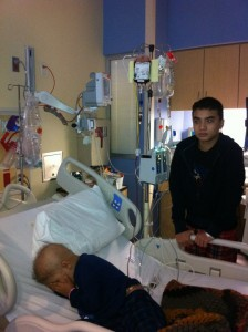 Joshua Cobler often visited his younger brother, Jude, in the hospital. Photo/Courtesy Cobler family