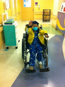 Jude Cobler during one of his many visits to Children's Medical Center. Photo/Courtesy Cobler family