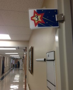 At John Peter Smith Hospital in Fort Worth, gold stars indicate a patient's risk of falling.