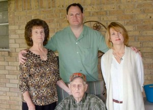 "Bill McCoy, seated with his family, loved life on his Bosque County ranch. ""He was a very rustic individual, worked hard,"" said his son, Dan McCoy. ""[He] literally ran the ranch.""  Courtesy: McCoy Family"
