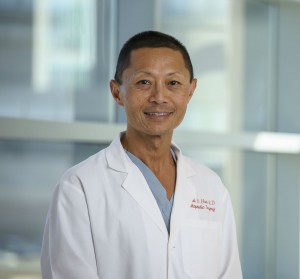 Dr. Michael Huo is an orthopedic surgeon and joint replacement specialist at UT-Southwestern in Dallas. Credit: UT-Southwestern