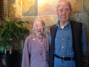 Yu-ying Lee with her husband Chung Hwa Lee. She's 91, but she's bounced back from a broken pelvis.