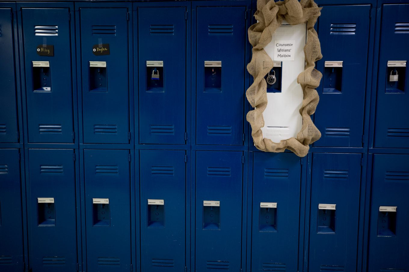 locker where students can send her private notes.