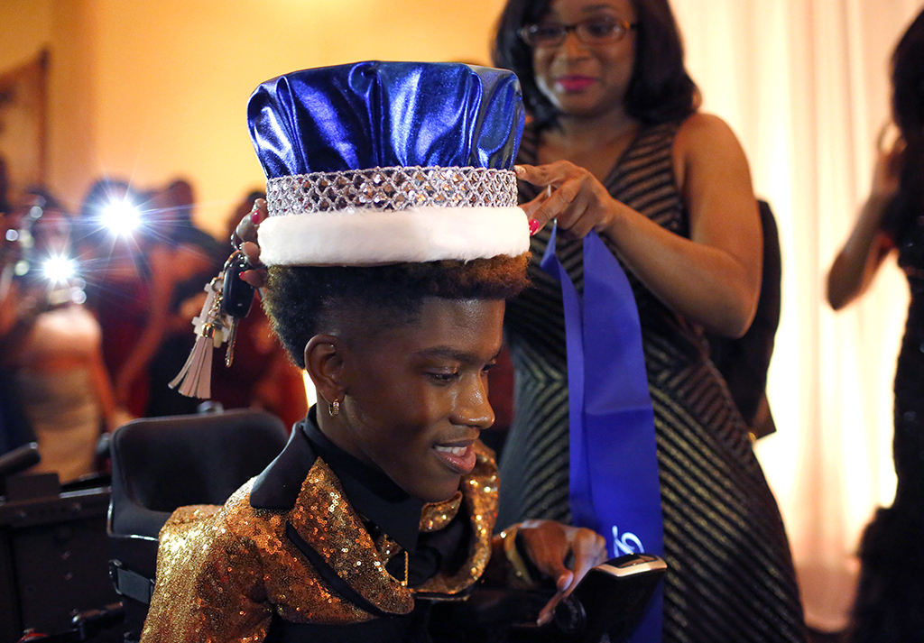 Chance Hawkins is crowned Prom King at the Dunbar High School prom in Arlington, Texas on Saturday, May 6, 2017. (photo © Lara Solt)