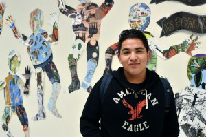 Victor Cervantes, a student at International Newcomer Academy, came from Mexico a year ago. He wants to go to college and play football or soccer. Photo/Christina Ulsh
