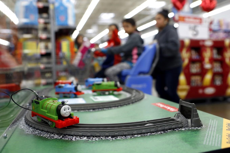 Thomas and Friends Trackmaster Motorized Railway display at Walmart in Dallas.  Photo/Lara Solt