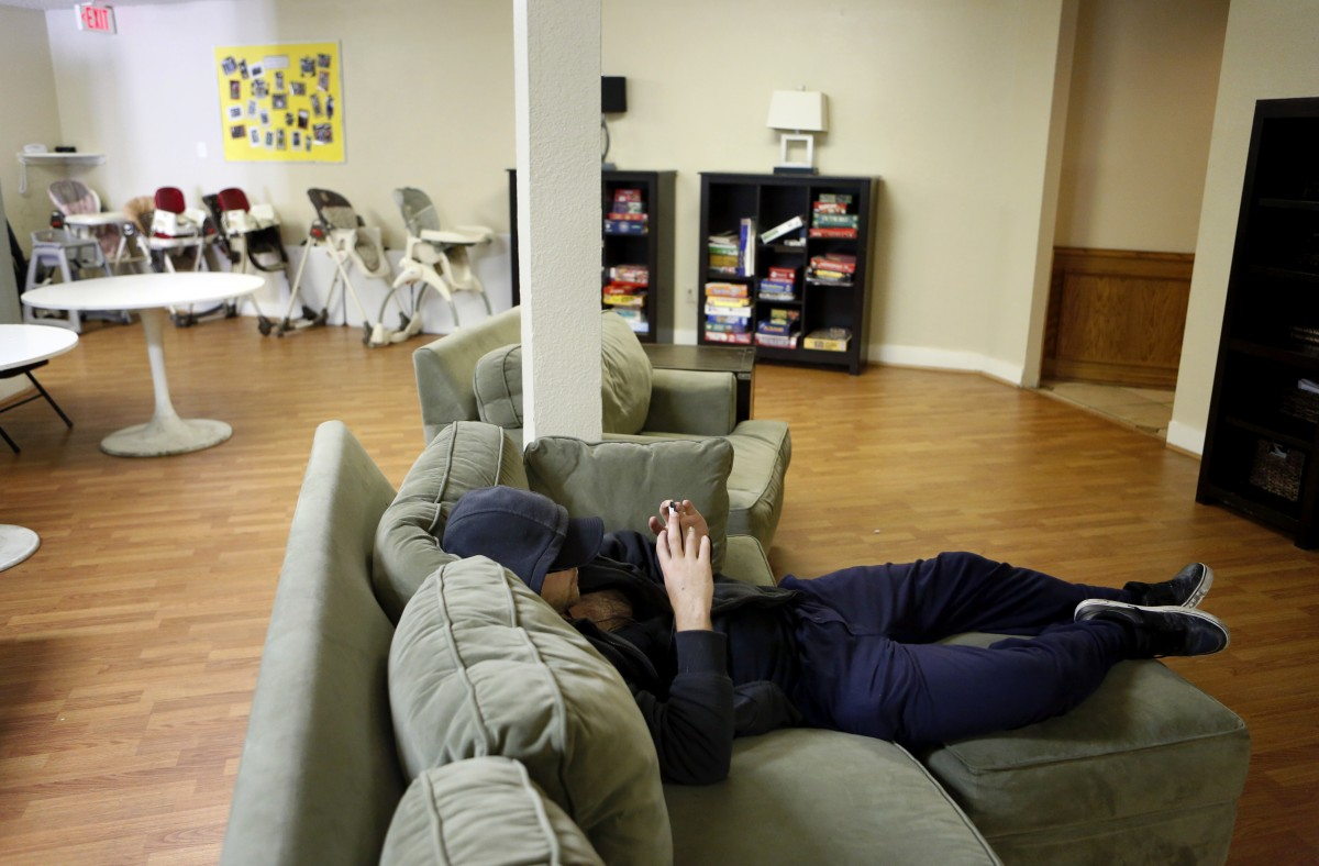 A common area at the Samaritan Inn in McKinney, the only homeless shelter in Collin County. Photo/Lara Solt