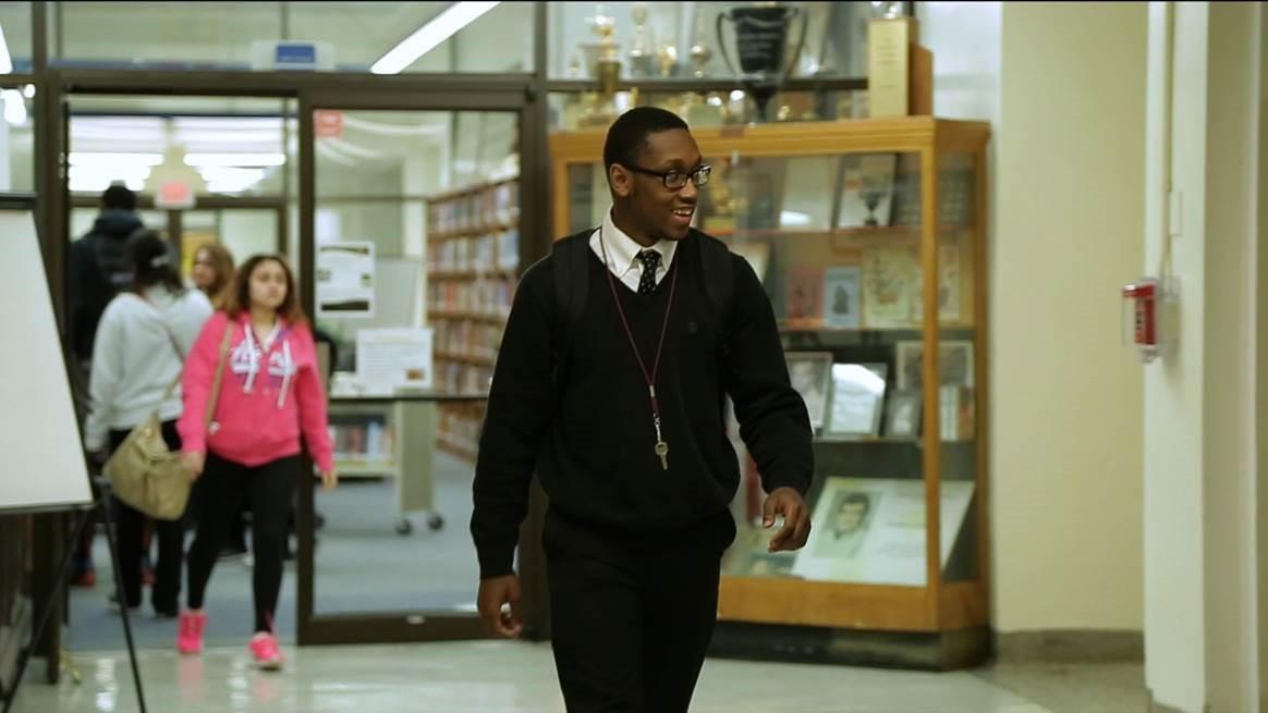 Desmond Davis is a senior at North Dallas High School.  Photo/Ginny Martin