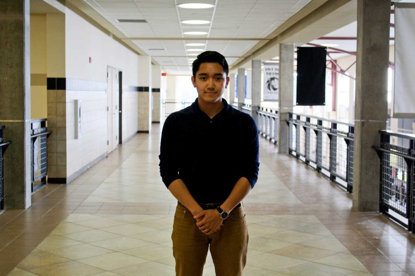 During his final semester at Guyer High School in Denton, Jeremy Orosco became homeless. Photo/Stephanie Kuo