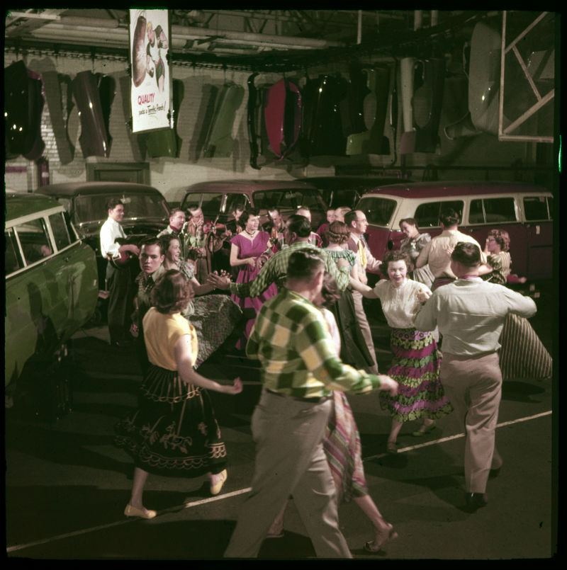 In 1952, Ford workers in Old East Dallas participated in a monthly square dance. Photo Credit/Ford Motor Co. Archives