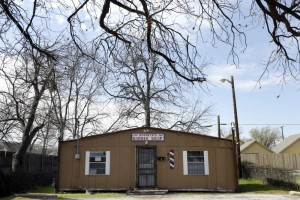Kenneth's Barber Shop is located in Jubilee Park in Dallas. Photo/Lara Solt