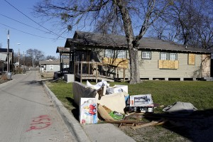 Boarded-up houses on Congo Street in Jubilee Park. Photo/Lara Solt