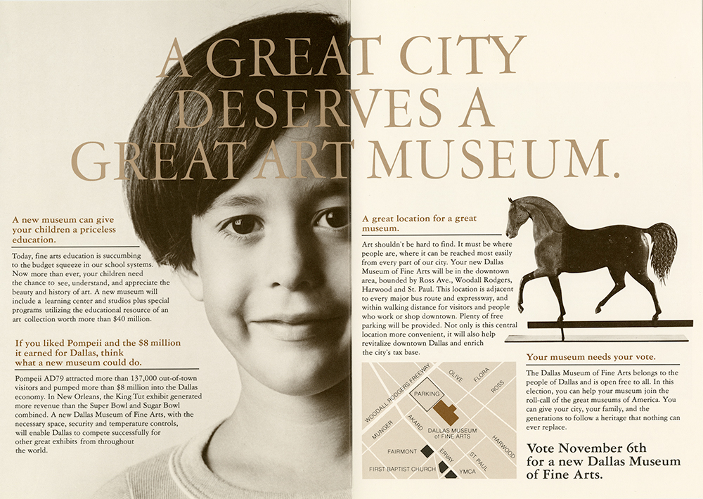 "Of course, the campaign also featured the slogan, ""A Great City Deserves a Great Art Museum."""