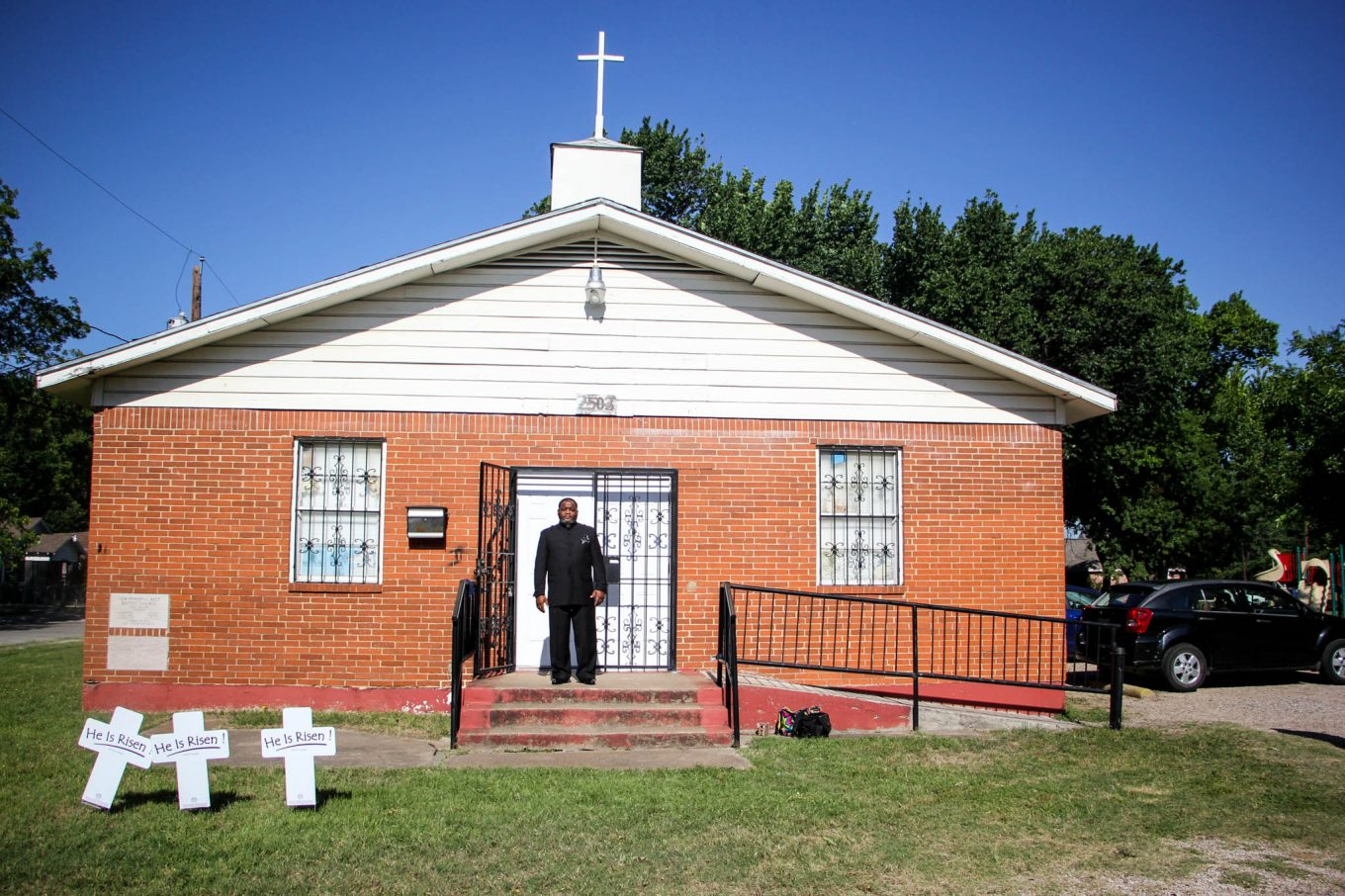 Cedric B. West is pastor at the Ark of God Revival Temple in West Dallas. Photo/Jessica Diaz-Hurtado
