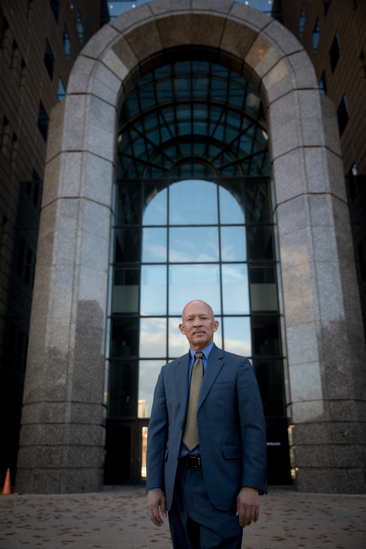 Dallas County District Attorney-elect, John Creuzot, poses for a portrait outside the Frank Crowley Courts Building. (Photo: Allison V. Smith)
