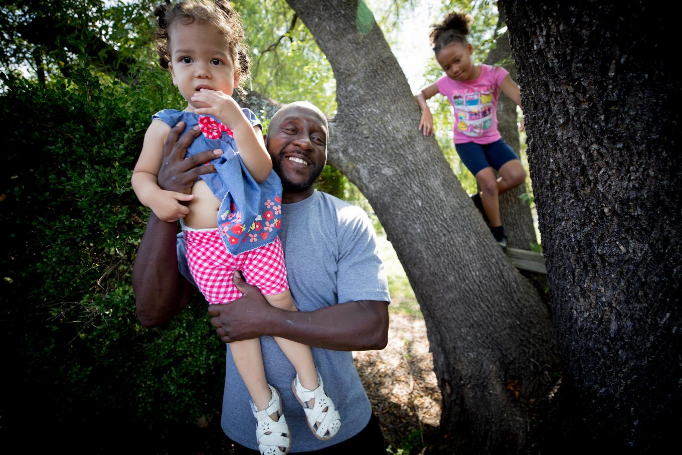 Before going to prison, Marc Wilson was set up to pass on wealth-building opportunities to his children and grandchildren, like a house and tuition help. / Photos: Allison V. Smith for KERA