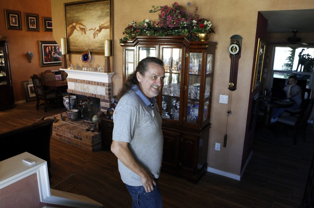 Anthony Fowler-Rainone has finally moved back into his home in Rowlett after it was severely damaged by a tornado in December 2015. Photographed on Thursday, November 10, 2016. (photo © Lara Solt)