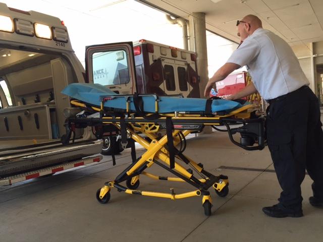 Employee at Parkland Emergency Department. Photo: Lauren Silverman