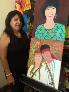 Alexandra Tomalá  says Trans.lation has given her an opportunity to do what she loves – make art and teach painting classes to Vickery Meadow residents. Photo/Stella Chavez
