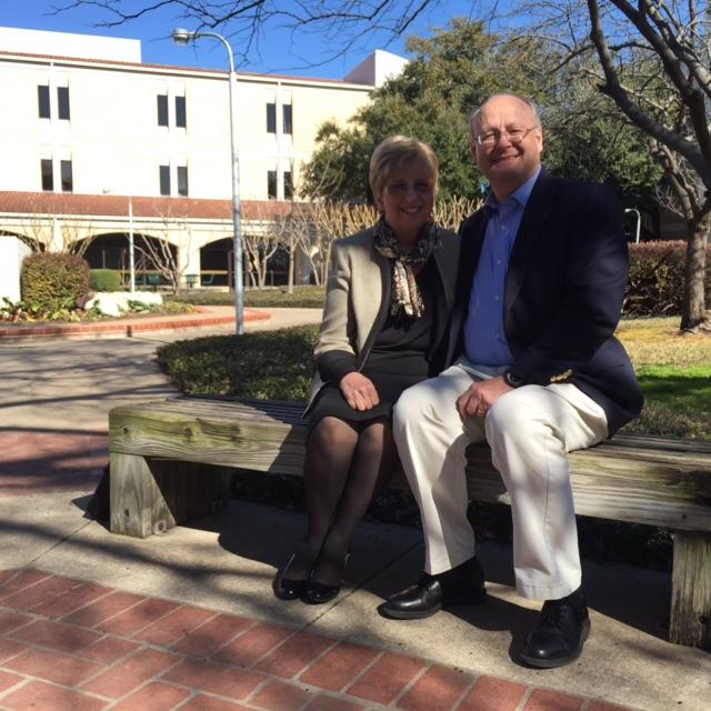 Nancy Writebol and her husband David at the Dallas Theological Seminary. Photo: Lauren Silverman, KERA News