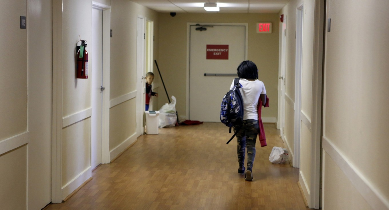 A hallway at The Samaritan Inn in McKinney, a homeless shelter in Collin County. Photo/Lara Solt