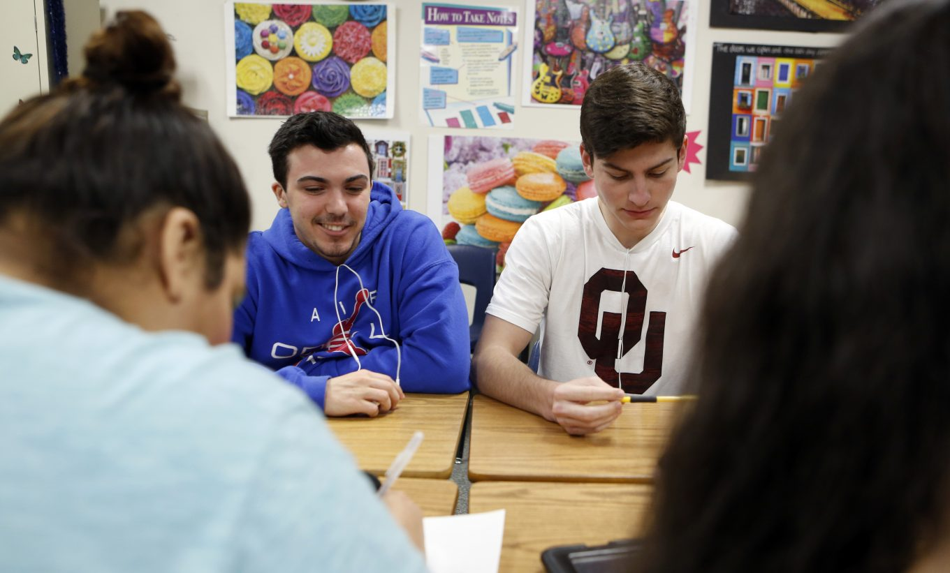 Ricky Rijos, left, is a student at Flower Mound High School. Photo/Lara Solt